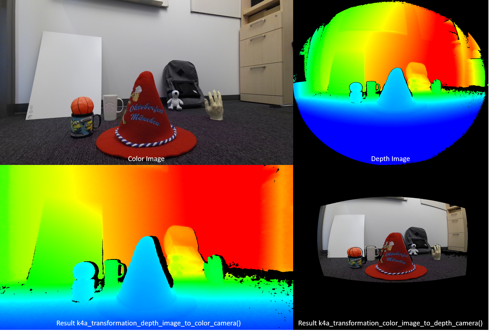 Use Azure Kinect Sensor SDK image transformations