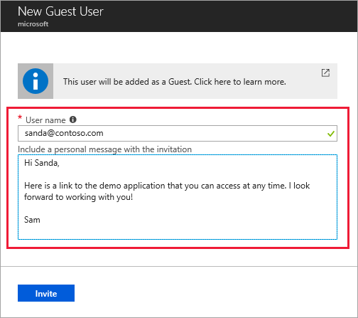 quickstart add guest users in the azure portal microsoft docs