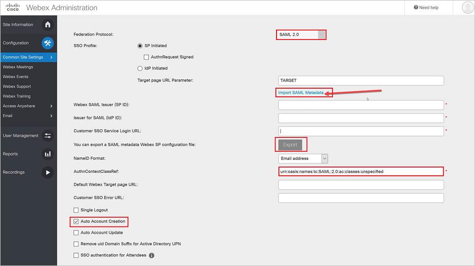 Tutorial: Azure Active Directory integration with Cisco Webex