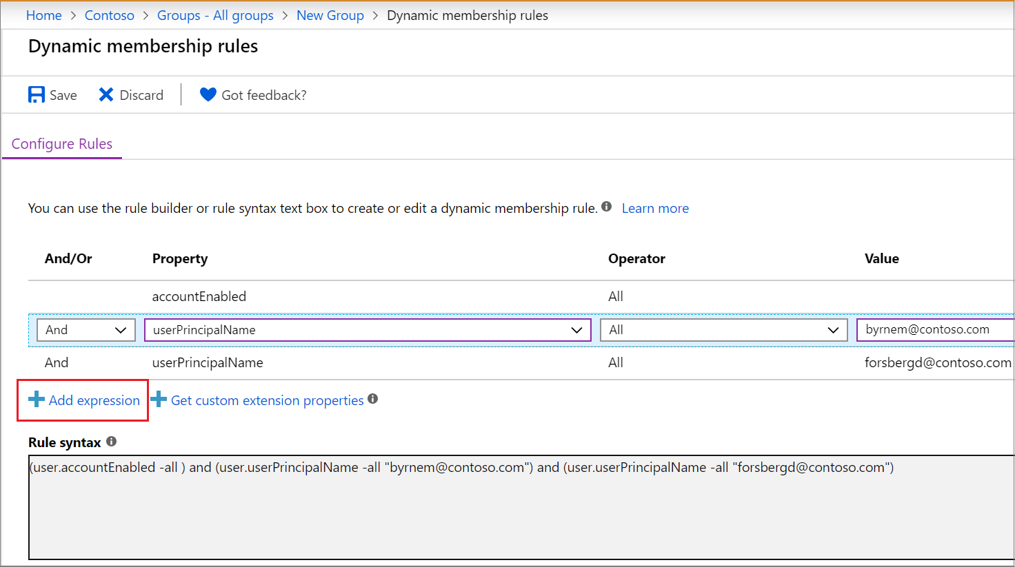 Create a dynamic group and check status - Azure Active Directory