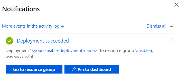 Quickstart - Deploy the Ansible solution template for Azure to