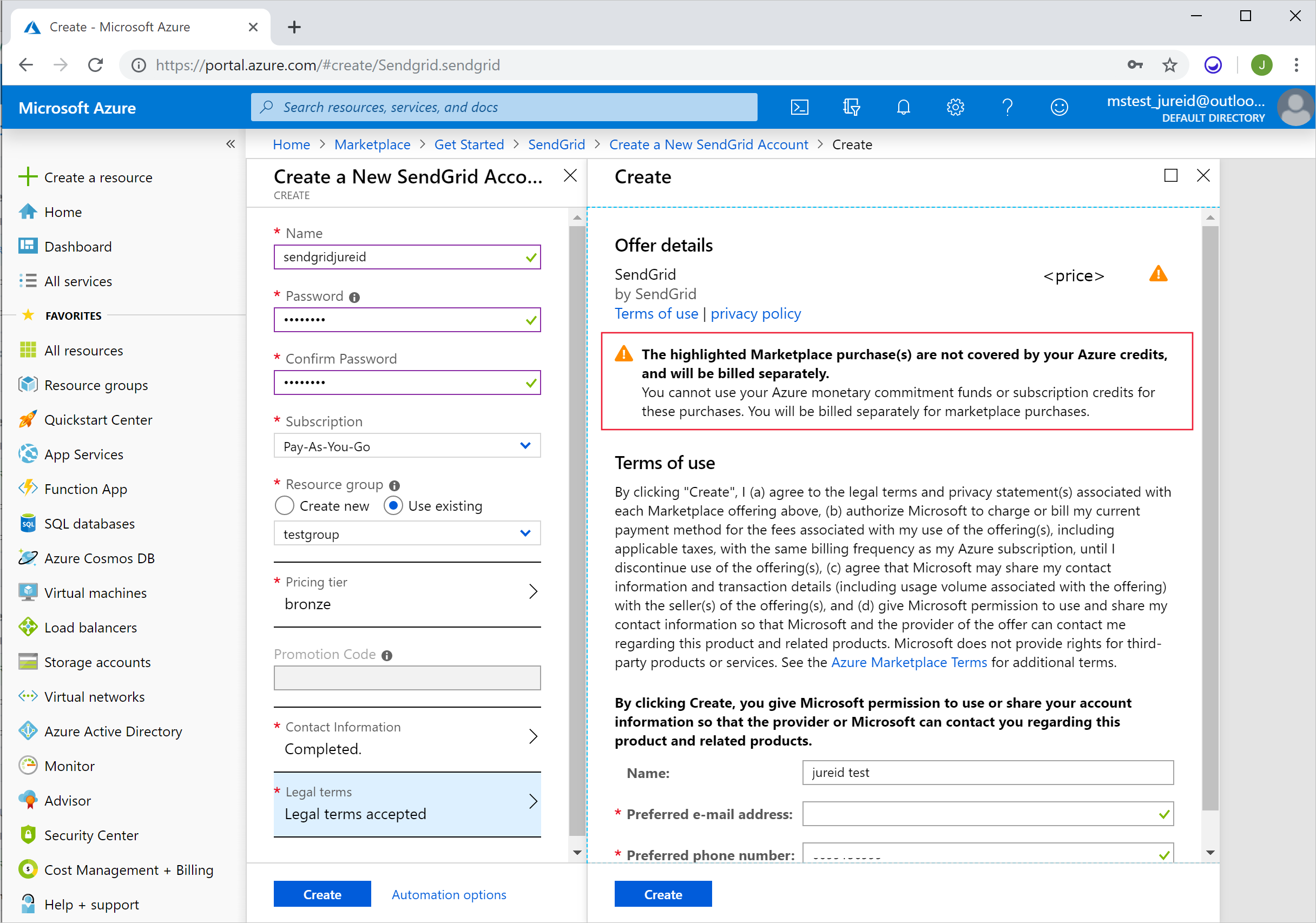 Understand your Azure external service charges | Microsoft Docs