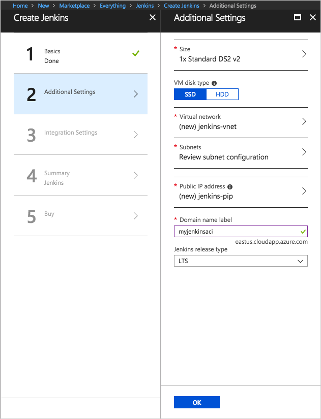 Use Azure Container Instances as a Jenkins build agent