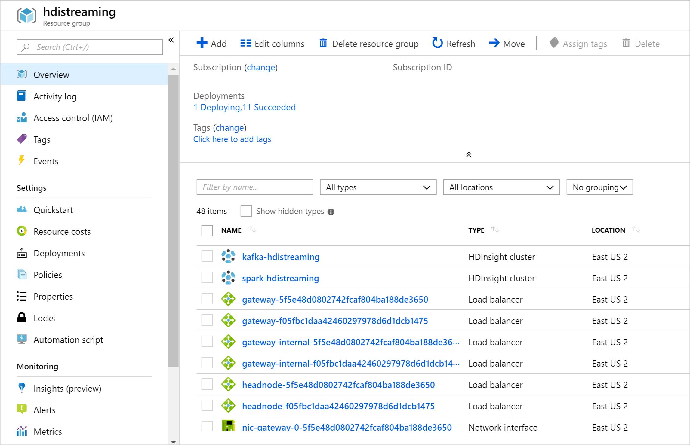 Apache Spark streaming with Apache Kafka - Azure HDInsight