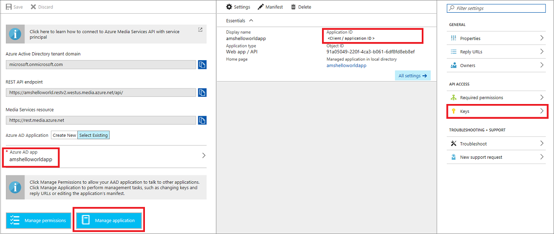 Use Azure AD authentication to access Azure Media Services API with