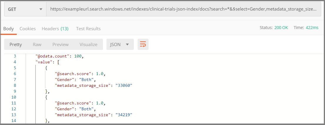 REST Tutorial: Indexing semi-strutured data in JSON blobs - Azure
