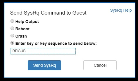 Azure Serial Console for SysRq and NMI calls | Microsoft Docs