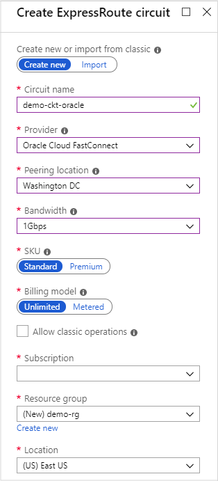 Connect Azure ExpressRoute with Oracle Cloud Infrastructure
