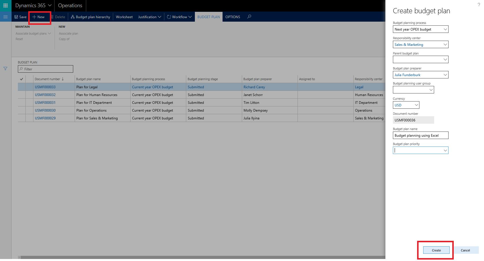 šablony Plánování Rozpočtu Pro Excel Finance Operations