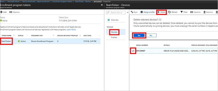 Vyřazení nebo vymazání zařízení pomocí Microsoft Intune