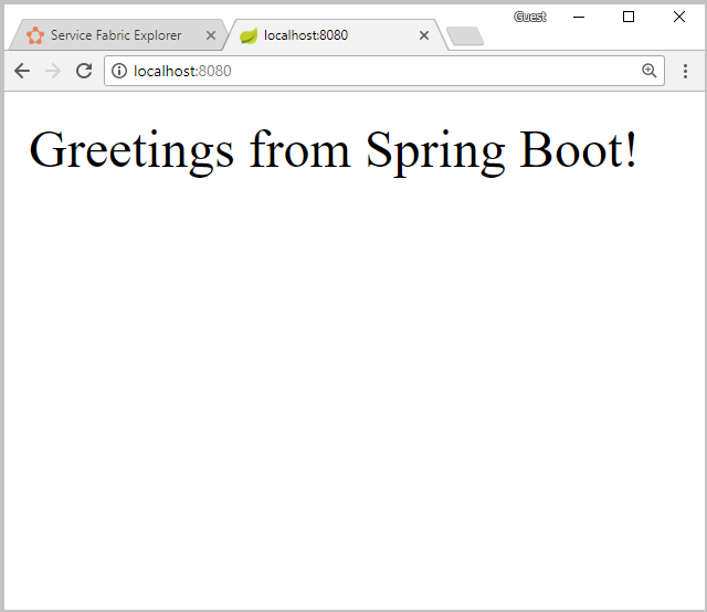 Create a Spring Boot app on Service Fabric in Azure | Microsoft Docs