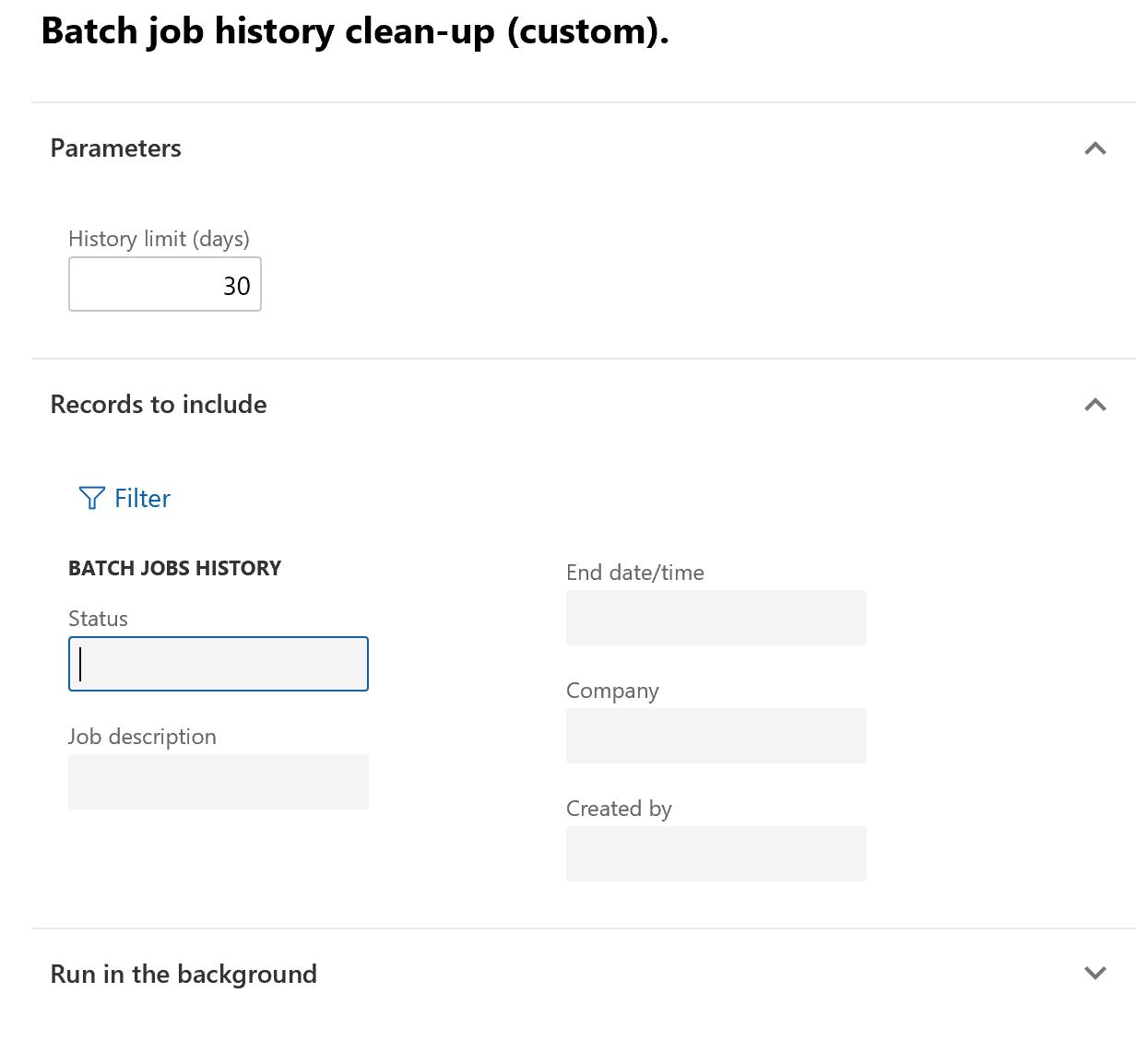 Clean Up The Batch Job History Finance Operations Dynamics 365