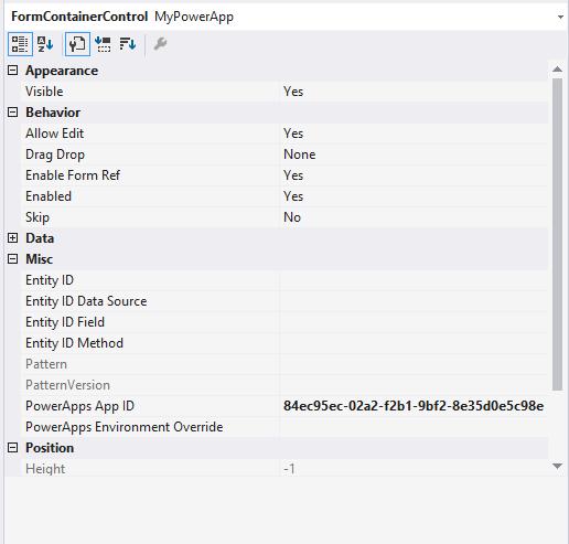 powerapps host control properties window - Beurlaubung Schule Muster