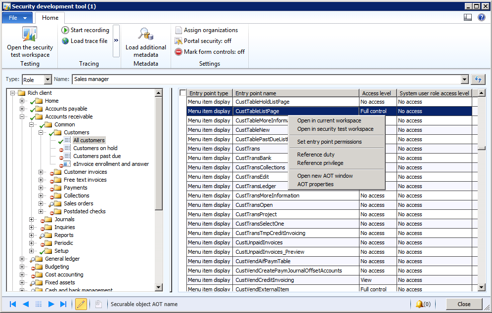Security Development Tool (AX 2012) - Finance & Operations ...