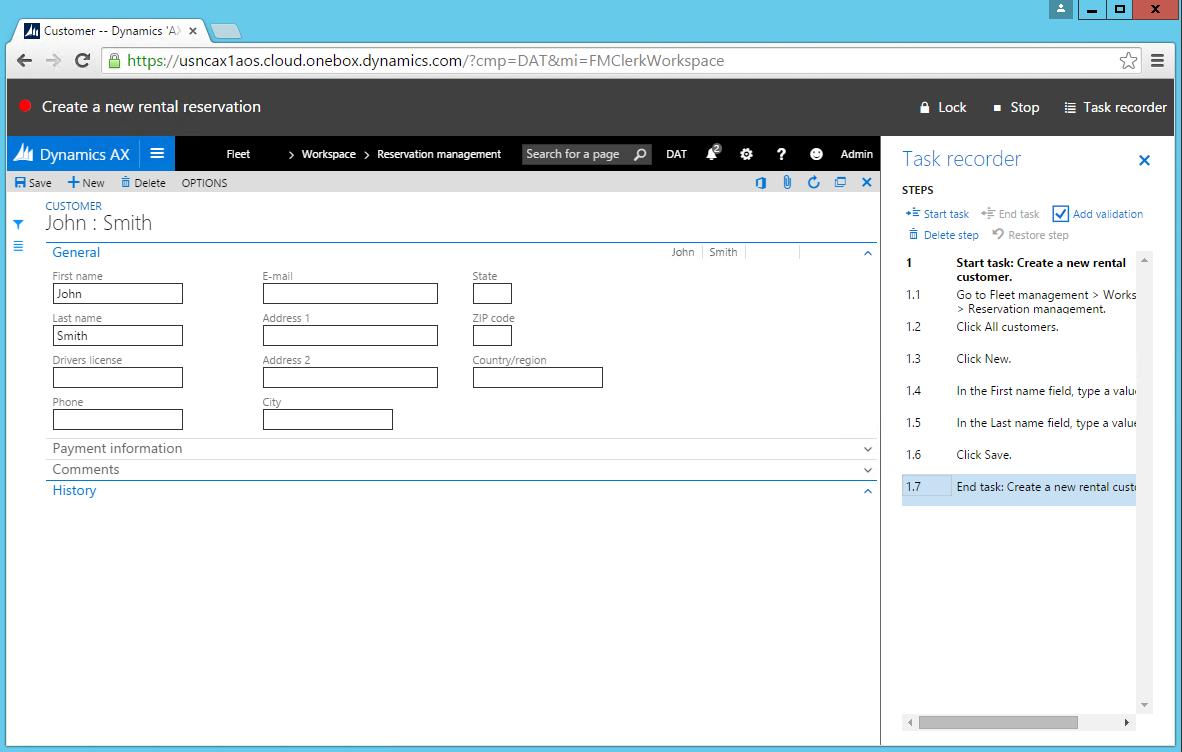 Task Recorder - Finance & Operations   Dynamics 365   #MSDyn365FO ...