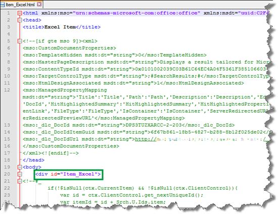 Grundlegendes zu anzeigen wie vorlagen und treffermarkierungen in sharepoint server microsoft docs - Div tag properties ...