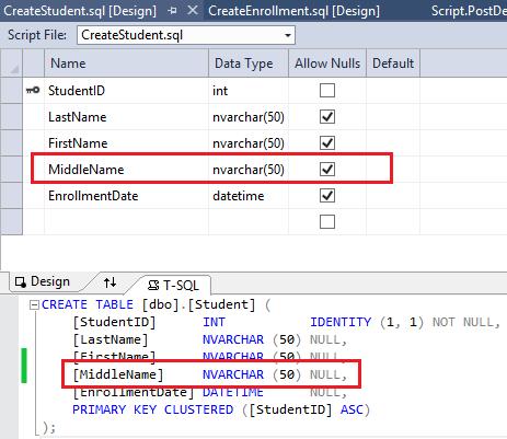 EF Database First mit ASP.NET MVC: Ändern der Datenbank | Microsoft Docs