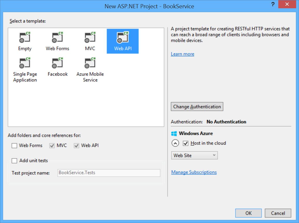 Mithilfe von Web-API 2 mit Entitätsframework 6 | Microsoft Docs