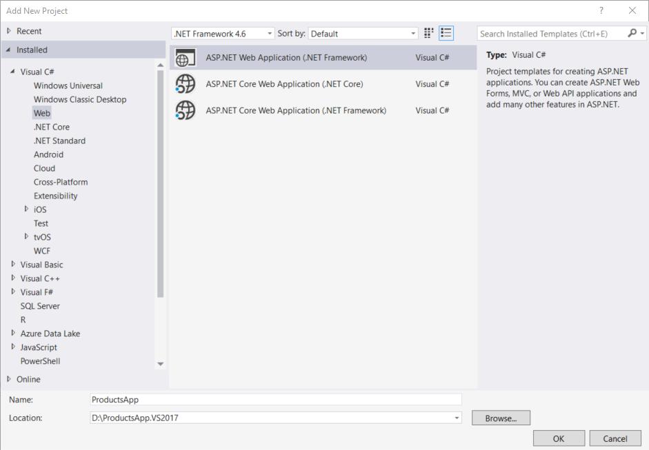 Erste Schritte mit ASP.NET-Web-API 2 (c#) | Microsoft Docs