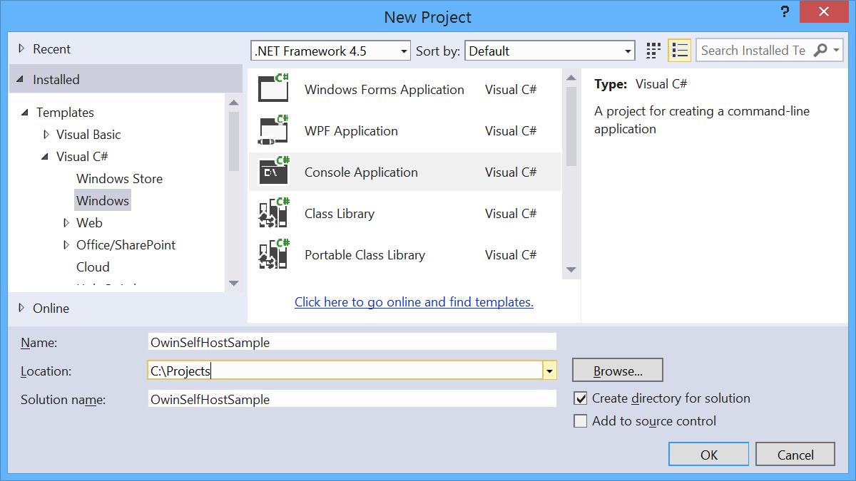 Verwenden von OWIN zum Selfhosten von ASP.NET-Web-API 2 | Microsoft Docs