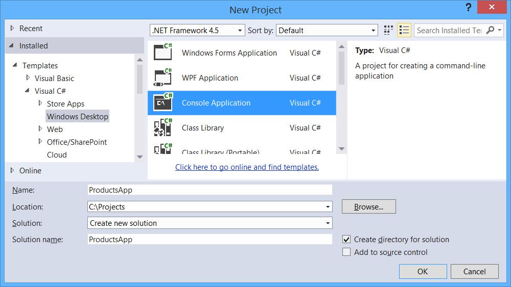 Erstellen Sie eine OData v4-Client-App (c#) | Microsoft Docs