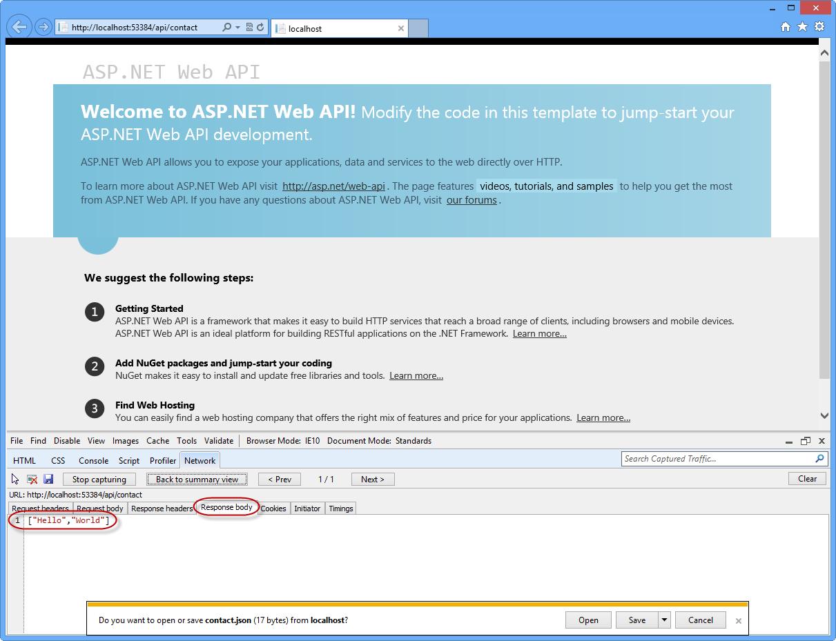Erstellen von RESTful-APIs mit ASP.NET Web-API | Microsoft Docs