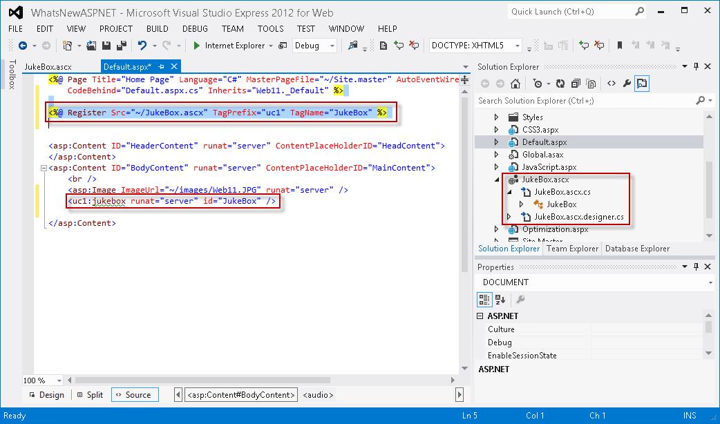 Was ist neu in ASP.NET und Webentwicklung in Visual Studio 2012 ...