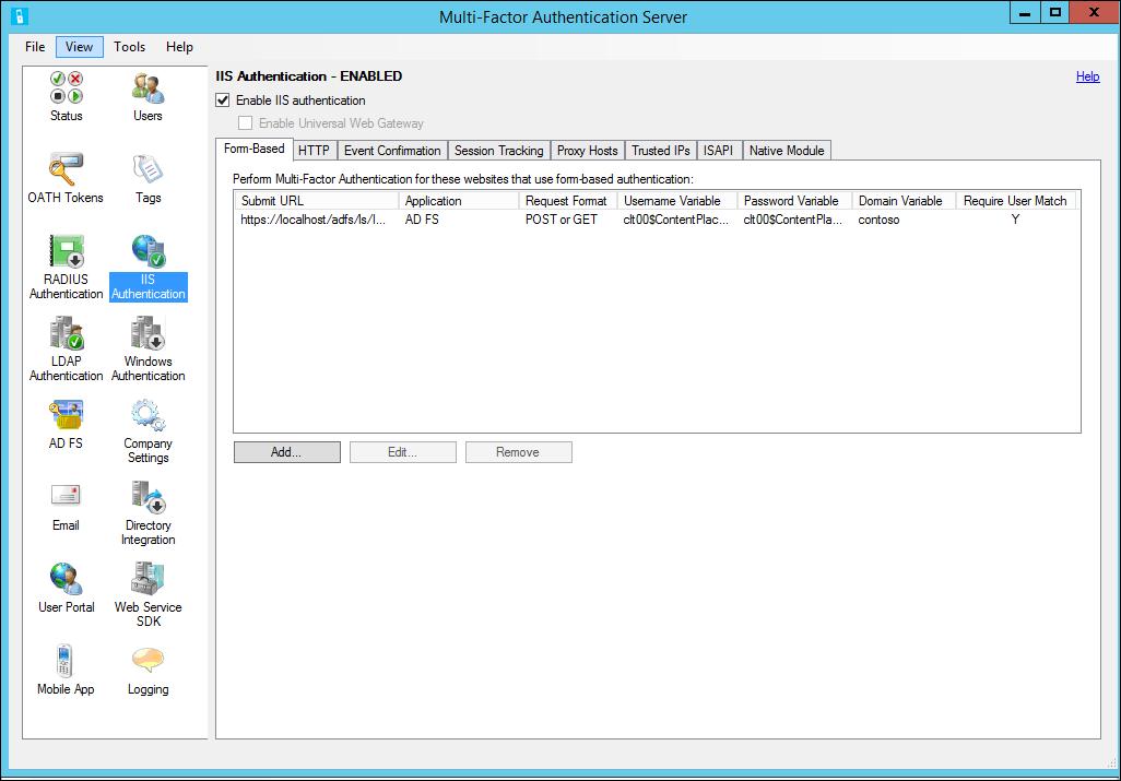 IIS-Authentifizierung und Azure MFA-Server | Microsoft Docs