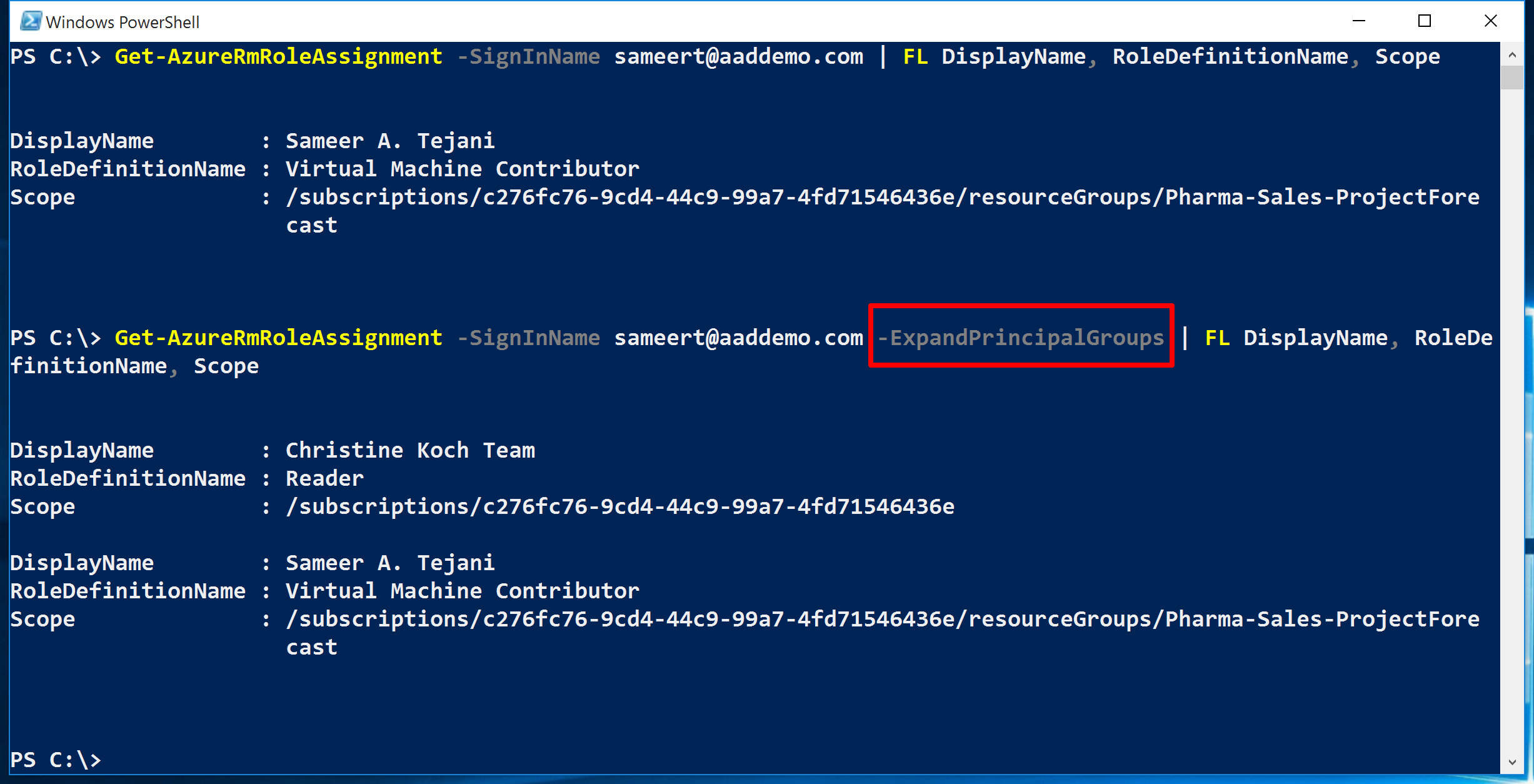 how to show dns addresses in powershell