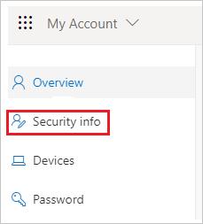 """Office-Portal mit Registerkarte """"Sicherheitsinformationen"""""""