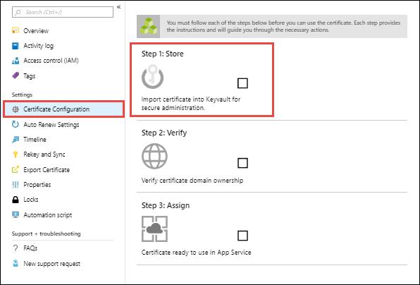 Kaufen und Konfigurieren eines SSL-Zertifikats für Ihren Azure App ...