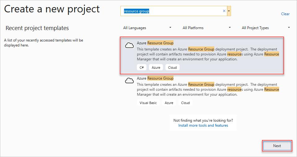 Azure-Ressourcengruppenprojekte in Visual Studio | Microsoft Docs