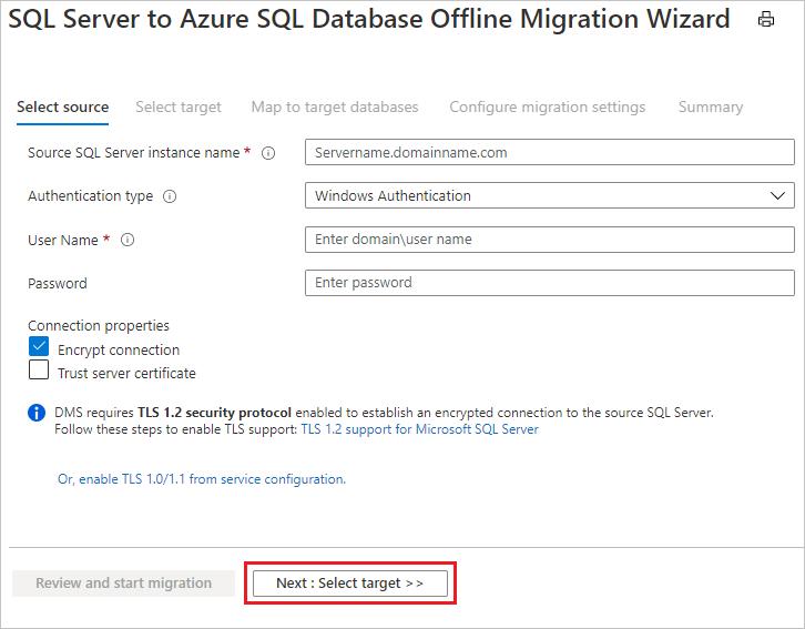 Tutorial Verwenden Von Azure Database Migration Service Fr Die