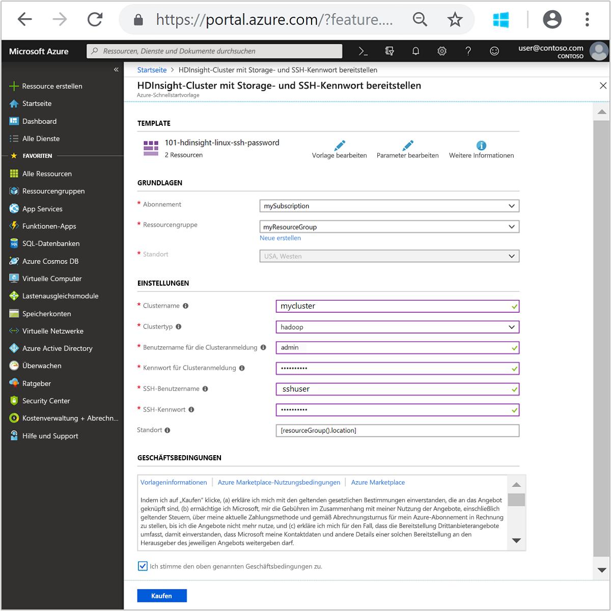 Schnellstart: Erste Schritte mit Hadoop und Hive in Azure HDInsight ...
