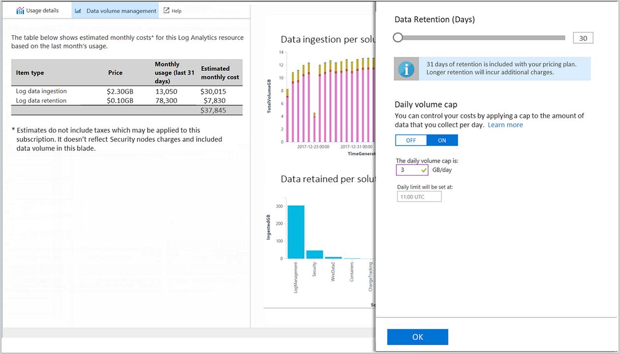 Verwalten der Kosten für Daten in Azure Log Analytics | Microsoft Docs