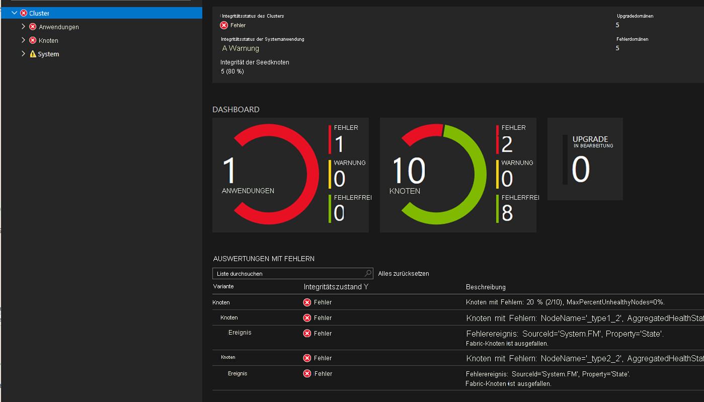 Azure Service Fabric-Anwendung für die Patchorchestrierung ...
