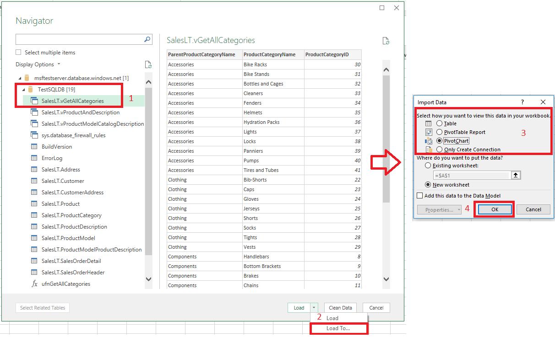 Arbeitsblatt Excel Anzeigen : Verbinden von excel mit sql datenbank microsoft docs