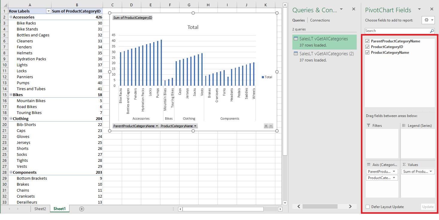 Verbinden von Excel mit SQL-Datenbank | Microsoft Docs