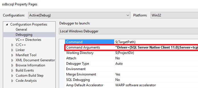 Herstellen einer Verbindung mit SQL-Datenbank mit C und C++ ...