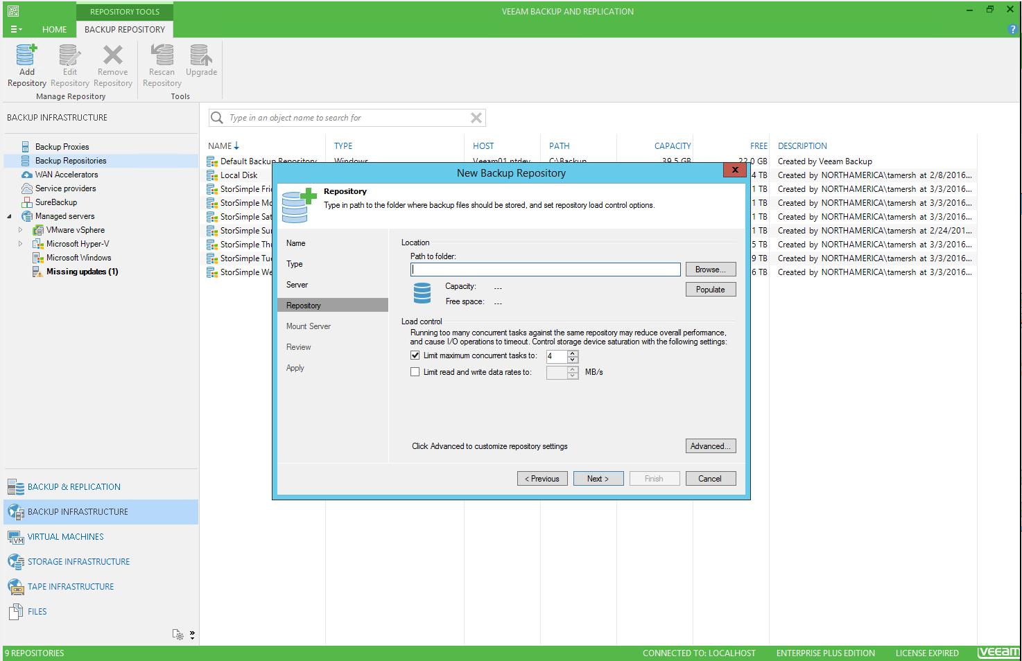 StorSimple 8000-Serie als Sicherungsziel mit Veeam | Microsoft Docs