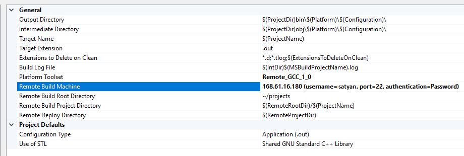 Konfigurieren eines C++ Projekts unter Linux in Visual