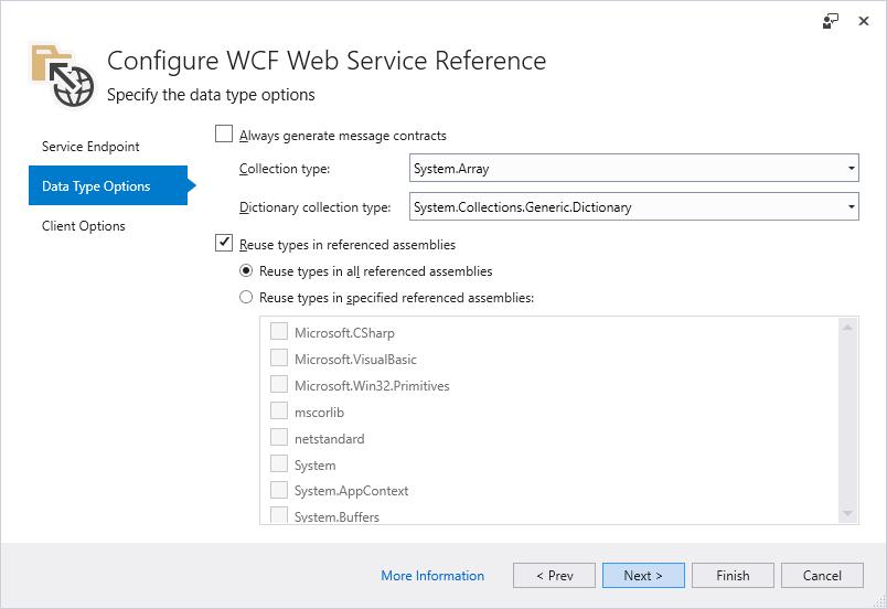 Microsoft WCF Web Service Reference Provider-Tool   Microsoft Docs