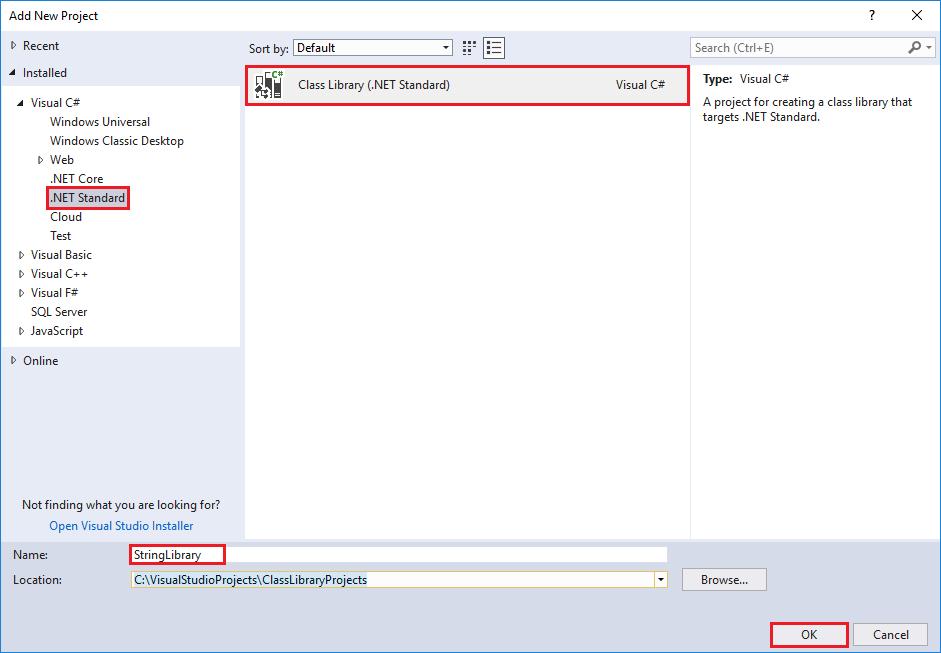 Erstellen einer .NET Standard-Klassenbibliothek mit C# und .NET Core ...