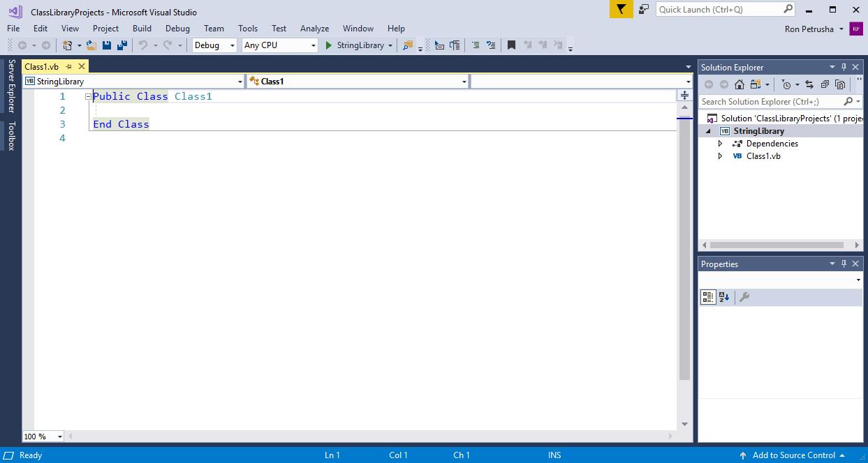 Erstellen einer Klassenbibliothek mit Visual Basic und .NET Core in ...