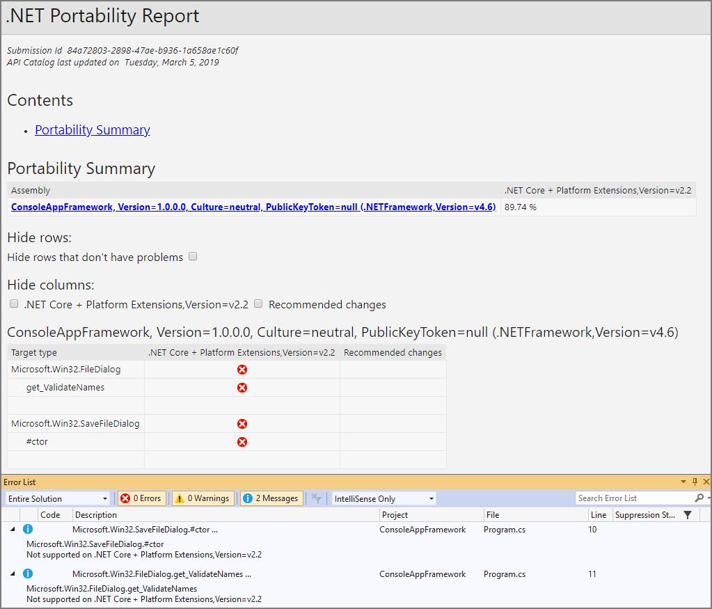 NET Portability Analyzer – .NET   Microsoft Docs