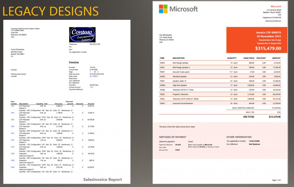 Install modern report design templates - Finance & Operations ...