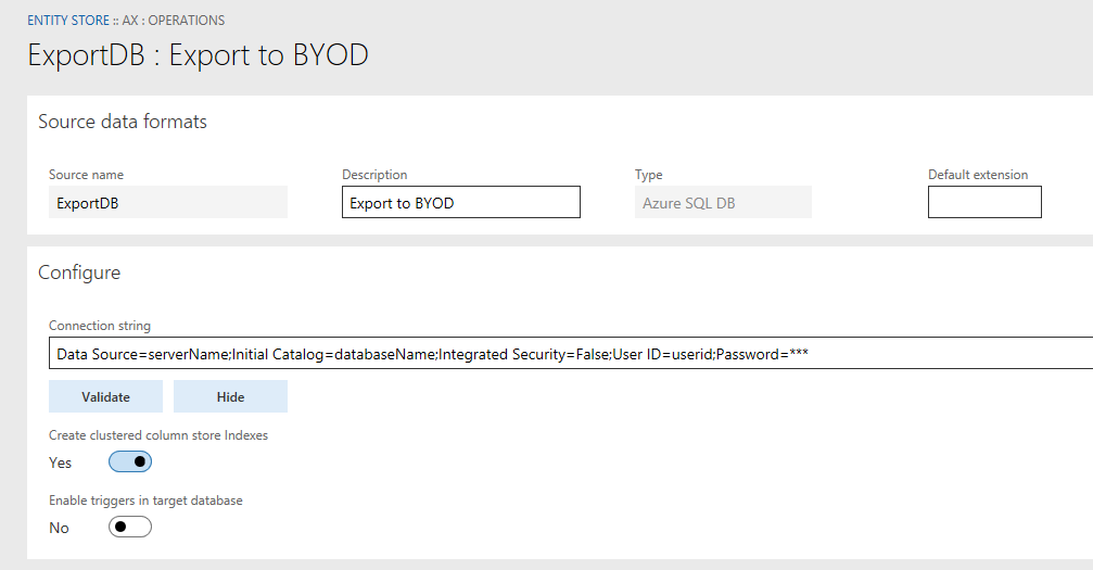 Bring your own database - Finance & Operations   Dynamics 365 ...