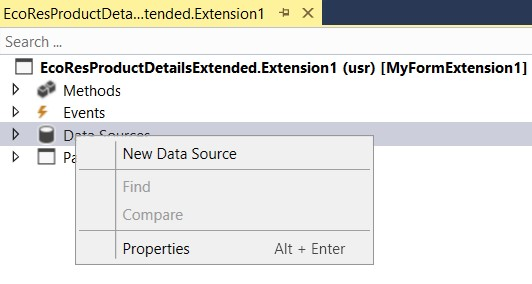 Add a new data source to a form - Finance & Operations | Dynamics ...