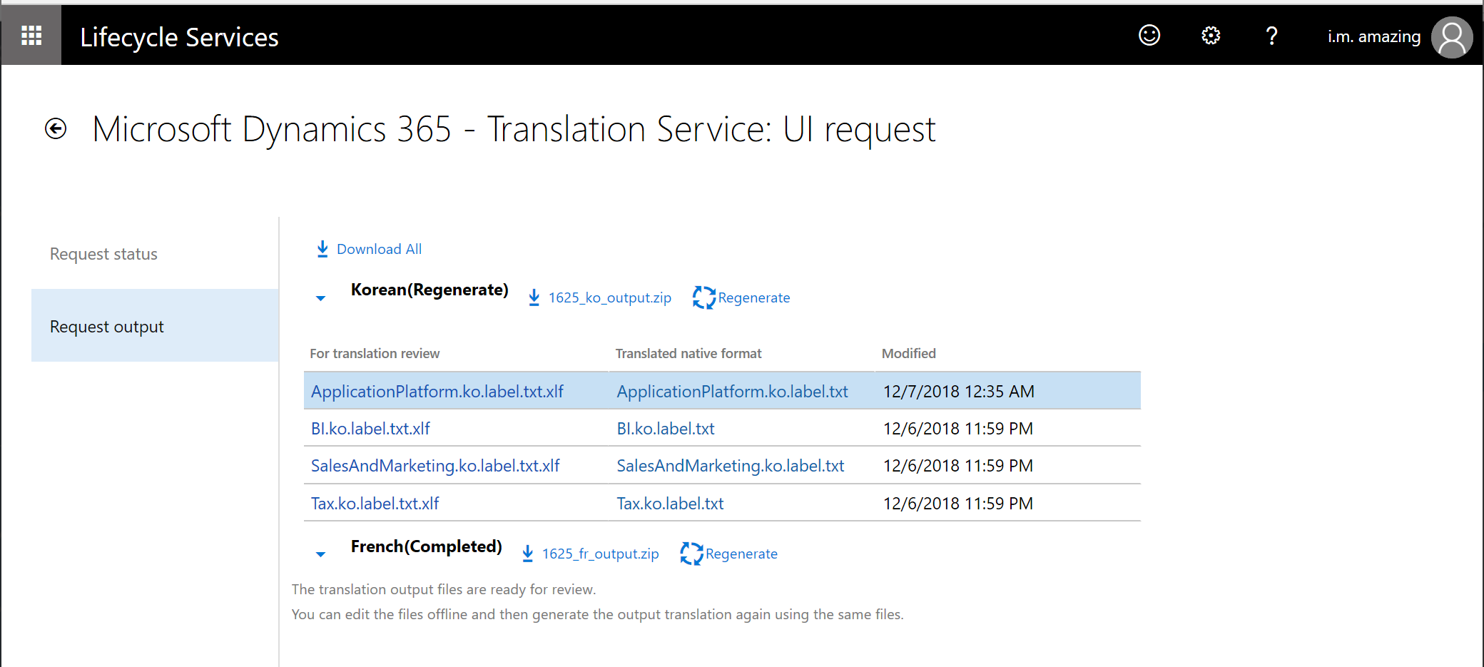 Microsoft Dynamics 365 Translation Service - User interface file ...