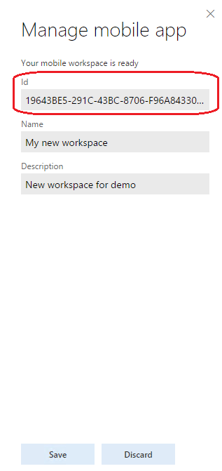 app id in the workspace summary - Muster Gelangensbesttigung